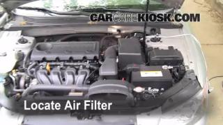 2006-2010 Hyundai Sonata Engine Air Filter Check