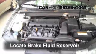 2006-2010 Hyundai Sonata Brake Fluid Level Check