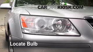 2009 Hyundai Sonata GLS 2.4L 4 Cyl. Lights Turn Signal - Front (replace bulb)