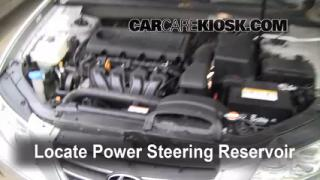 Follow These Steps to Add Power Steering Fluid to a Hyundai Sonata (2006-2010)