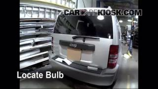 Third Brake Light Bulb Change Jeep Liberty (2008-2012)