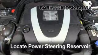 Battery replacement 2008 2015 mercedes benz c300 2009 for Mercedes benz ml320 power steering fluid