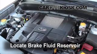 2009 Subaru Forester XT Limited 2.5L 4 Cyl. Turbo Brake Fluid Add Fluid