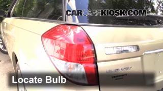 2009 Subaru Outback 2.5i Limited 2.5L 4 Cyl. Lights Turn Signal - Rear (replace bulb)