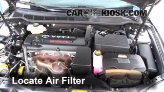 2007-2011 Toyota Camry Engine Air Filter Check