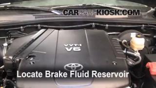 2009 Toyota Tacoma Pre Runner 4.0L V6 Crew Cab Pickup (4 Door) Brake Fluid Add Fluid