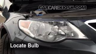 2009 Volkswagen CC Luxury 2.0L 4 Cyl. Turbo Lights Headlight (replace bulb)