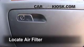 Cambio de filtro de aire interior Audi Q5 2009-2014