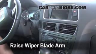 2010 Audi Q5 Premium 3.2L V6 Escobillas de limpiaparabrisas delantero Cambiar escobillas de limpiaparabrisas