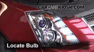 2010 Cadillac CTS 3.0L V6 Sedan Lights Headlight (replace bulb)