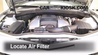 2010-2013 Chevrolet Camaro Engine Air Filter Check