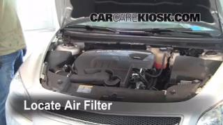 2008-2012 Chevrolet Malibu Engine Air Filter Check