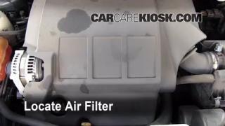 2009-2016 Dodge Journey Engine Air Filter Check