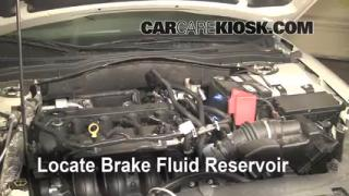2010 Ford Fusion SE 2.5L 4 Cyl. Brake Fluid Check Fluid Level