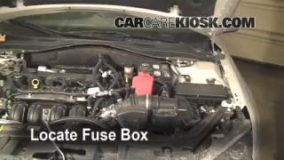 interior fuse box location 2010 2012 ford fusion 2010 ford blown fuse check 2010 2012 ford fusion