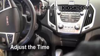How to Set the Clock on a GMC Terrain (2010-2014)