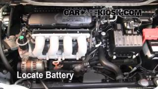 2010 Honda Fit Sport 1.5L 4 Cyl. Battery Clean Battery & Terminals