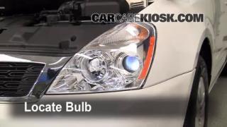 2010 Kia Sedona LX 3.8L V6 Lights Parking Light (replace bulb)
