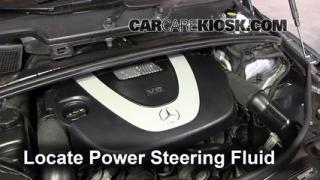 Interior fuse box location 2006 2012 mercedes benz r350 for Mercedes benz power steering fluid