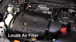 2007-2013 Mitsubishi Outlander Engine Air Filter Check