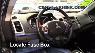 Interior Fuse Box Location: 2007-2013 Mitsubishi Outlander