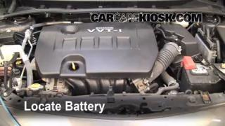 Battery Replacement: 2009-2013 Toyota Corolla
