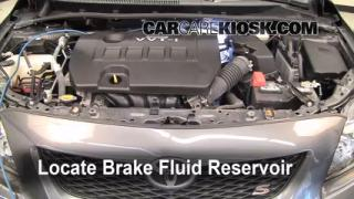 2009-2013 Toyota Corolla Brake Fluid Level Check