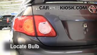 2010 Toyota Corolla S 1.8L 4 Cyl. Lights Turn Signal - Rear (replace bulb)