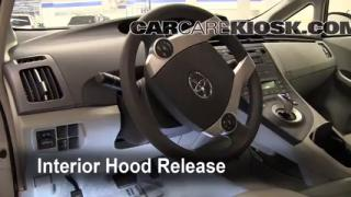 Open Hood How To 2010-2015 Toyota Prius