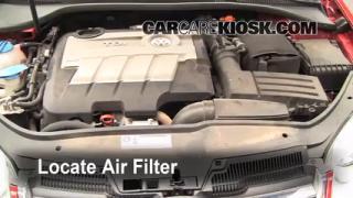 2010 Volkswagen Jetta TDI 2.0L 4 Cyl. Turbo Diesel Sedan Air Filter (Engine) Check