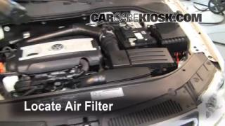2010 Volkswagen Passat Komfort 2.0L 4 Cyl. Turbo Wagon Air Filter (Engine) Check