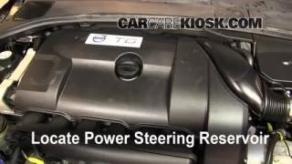 2010 Volvo S80 T6 3.0L 6 Cyl. Turbo Power Steering Fluid Add Fluid
