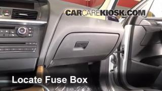 interior fuse box location 2011 2016 bmw x3 2011 bmw x3 2011 2016 bmw x3 interior fuse check