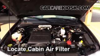 2011 Ford Escape XLT 3.0L V6 FlexFuel Air Filter (Cabin) Replace