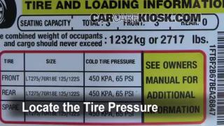 2011 Ford F-250 Super Duty XLT 6.2L V8 FlexFuel Standard Cab Pickup Tires & Wheels Check Tire Pressure