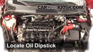 2011 Ford Fiesta SE 1.6L 4 Cyl. Sedan Oil Check Oil Level