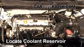 Coolant Level Check: 2008-2012 Accord