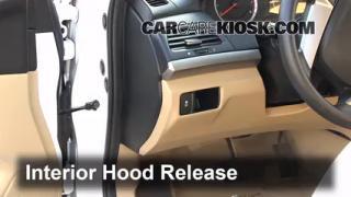 Open Hood How To 2008-2012 Honda Accord