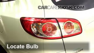 2011 Hyundai Santa Fe GLS 2.4L 4 Cyl. Lights Tail Light (replace bulb)