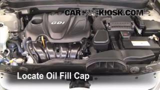 How to Add Oil Hyundai Sonata (2011-2014)