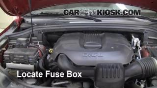 Interior Fuse Box Location: 2011-2014 Jeep Grand Cherokee