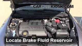 2009-2014 Lincoln MKS Brake Fluid Level Check