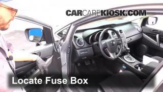 2011 Mazda CX 7 Sport 2.5L 4 Cyl.%2FFuse Interior Part 1 blown fuse check 2007 2012 mazda cx 7 2011 mazda cx 7 sport 2 5l 2000 Mazda 626 Fuse Box Diagram at edmiracle.co