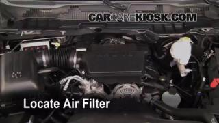 2011 Ram 1500 SLT 4.7L V8 FlexFuel Crew Cab Pickup Air Filter (Engine) Replace