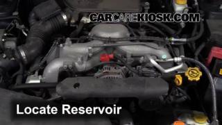 2011 Subaru Impreza 2.5i Premium 2.5L 4 Cyl. Wagon Windshield Washer Fluid Add Fluid