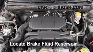 2010-2014 Subaru Legacy Brake Fluid Level Check