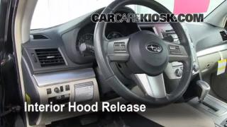Open Hood How To 2010-2014 Subaru Legacy