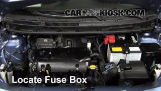 interior fuse box location 2007 2011 toyota yaris 2011 toyota replace a fuse 2007 2011 toyota yaris