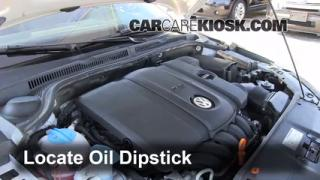 2011 Volkswagen Jetta SE 2.5L 5 Cyl. Sedan Oil Check Oil Level