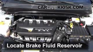 2012 Chrysler 200 LX 2.4L 4 Cyl. Sedan (4 Door) Brake Fluid Add Fluid